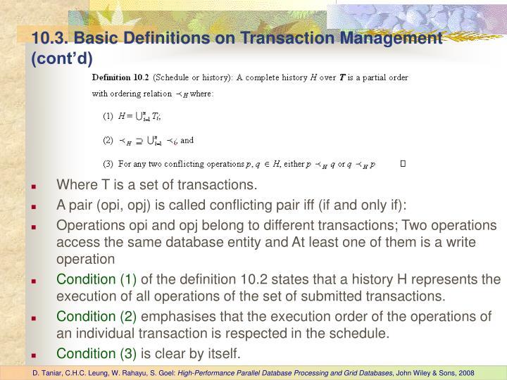 10.3. Basic Definitions on Transaction Management