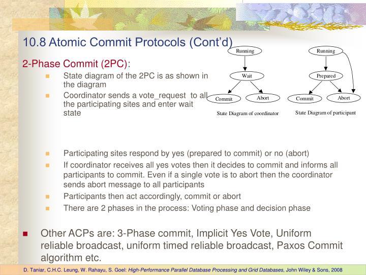 10.8 Atomic Commit Protocols (Cont'd)