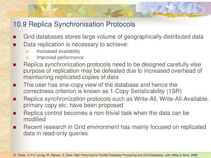 10.9 Replica Synchronisation Protocols