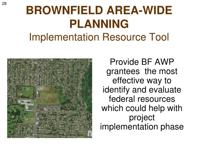 BROWNFIELD AREA-WIDE PLANNING