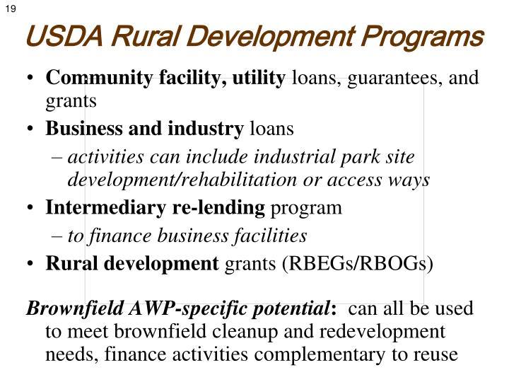 USDA Rural Development Programs
