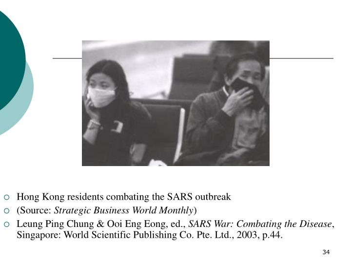Hong Kong residents combating the SARS outbreak
