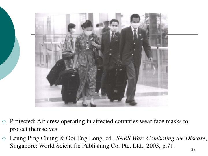 Protected: Air crew operating in affected countries wear face masks to protect themselves.