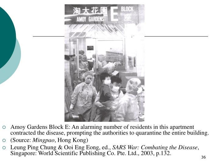 Amoy Gardens Block E: An alarming number of residents in this apartment contracted the disease, prompting the authorities to quarantine the entire building.