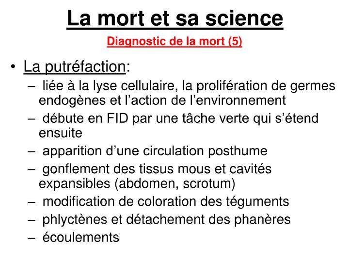 La mort et sa science