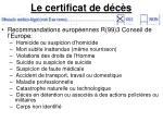 le certificat de d c s6