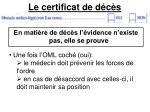 le certificat de d c s7
