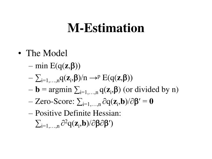 M estimation