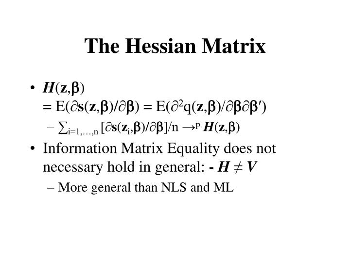 The Hessian Matrix