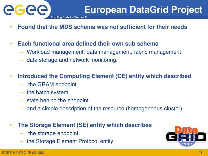 European DataGrid Project