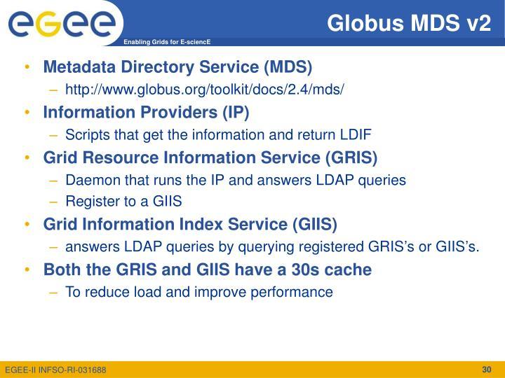 Globus MDS v2