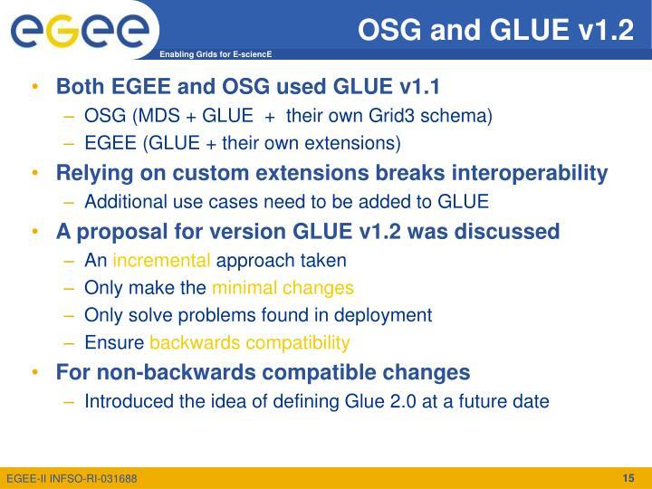 OSG and GLUE v1.2