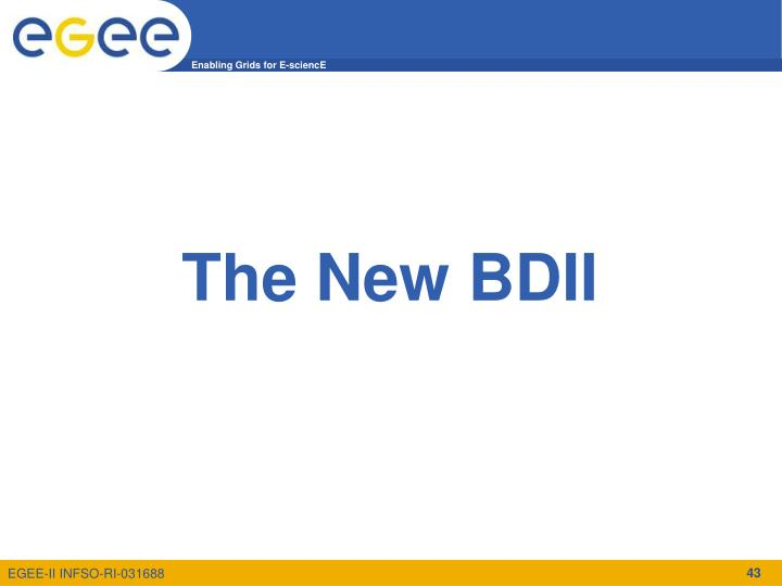 The New BDII
