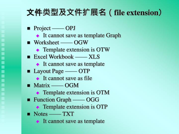 文件类型及文件扩展名(