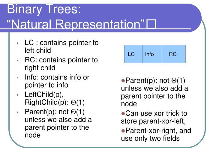 Binary Trees: