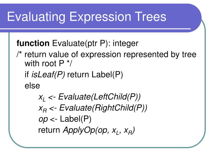 Evaluating Expression Trees