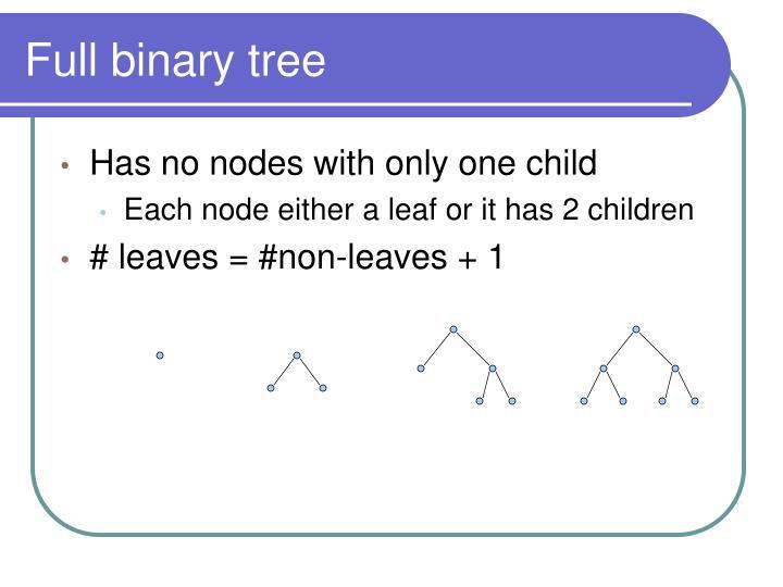 Full binary tree