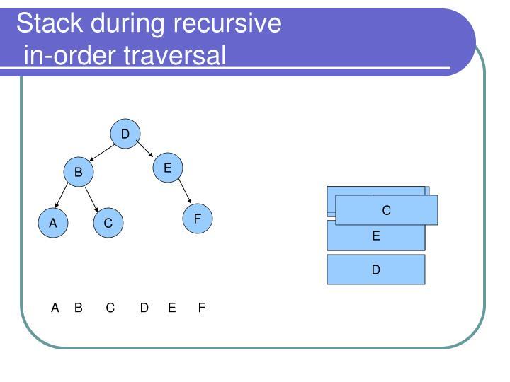 Stack during recursive