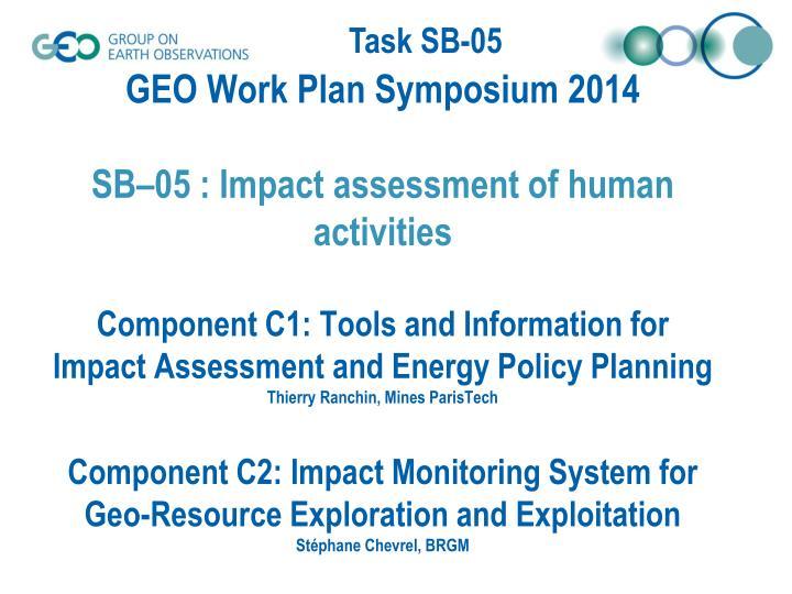 GEO Work Plan Symposium 2014