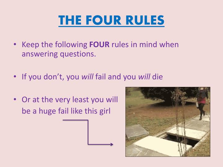 THE FOUR RULES