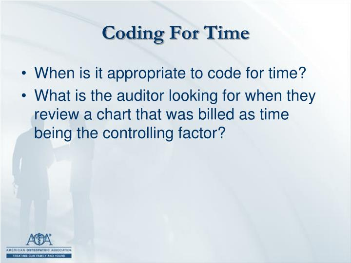 Coding For Time
