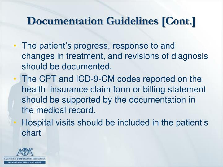 Documentation Guidelines [Cont.]