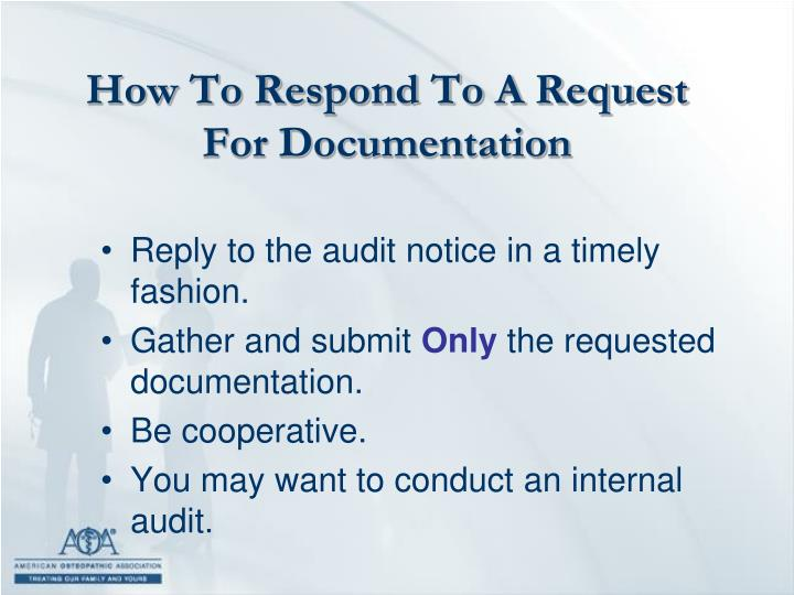 How To Respond To A Request For Documentation
