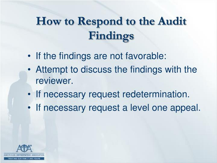 How to Respond to the Audit Findings