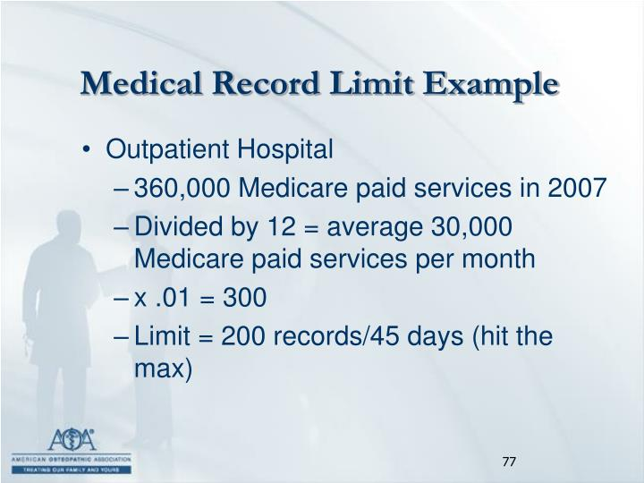 Medical Record Limit Example