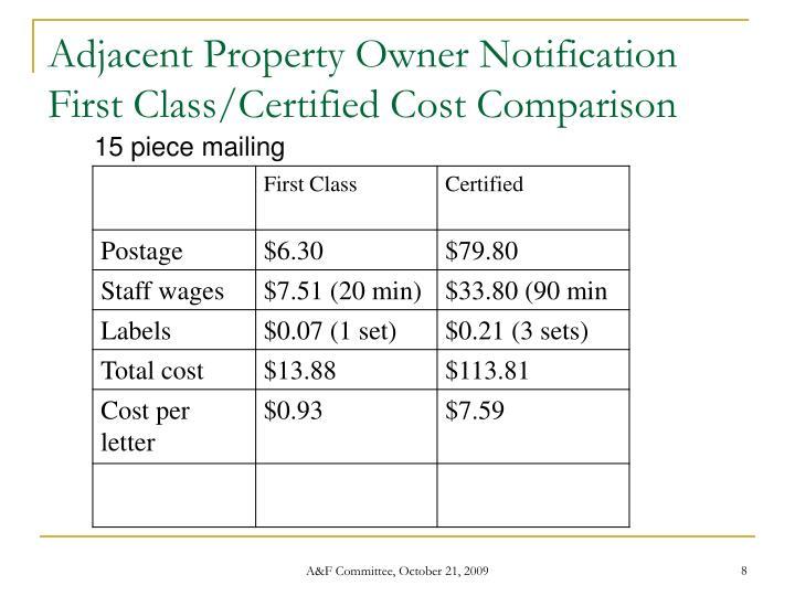 Adjacent Property Owner Notification