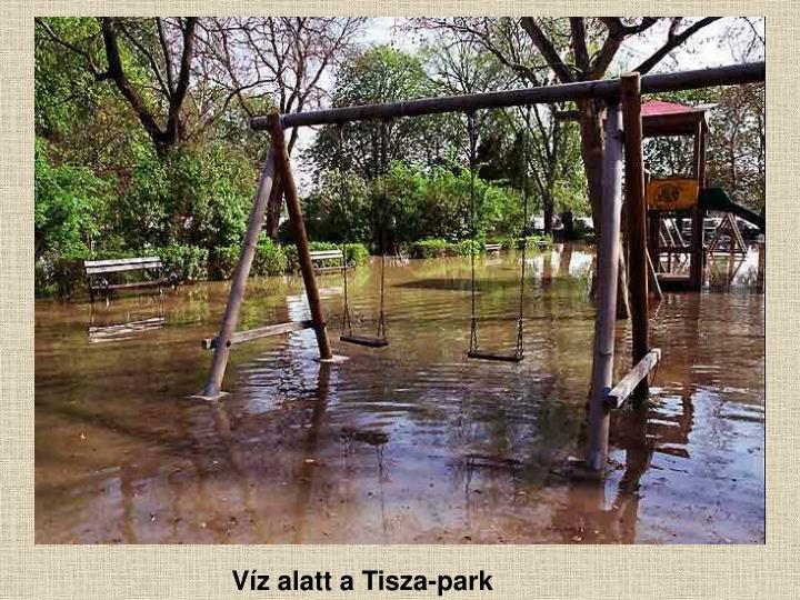Víz alatt a Tisza-park