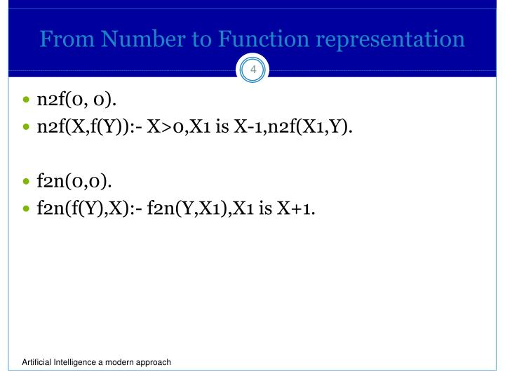 From Number to Function representation