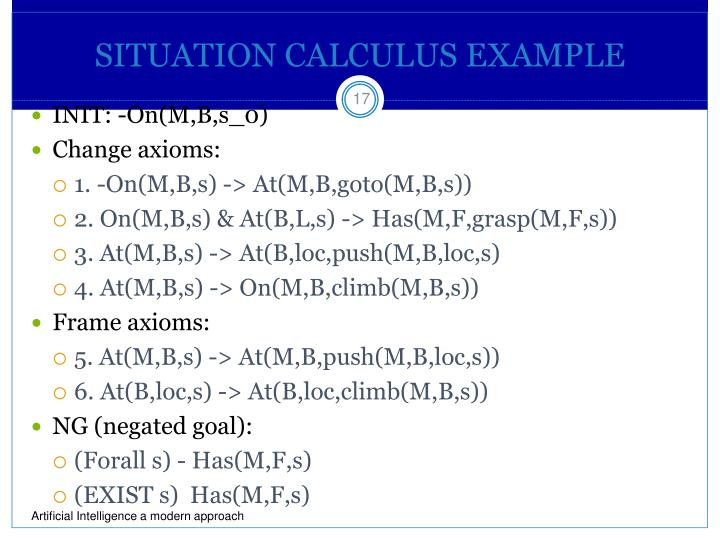 SITUATION CALCULUS EXAMPLE