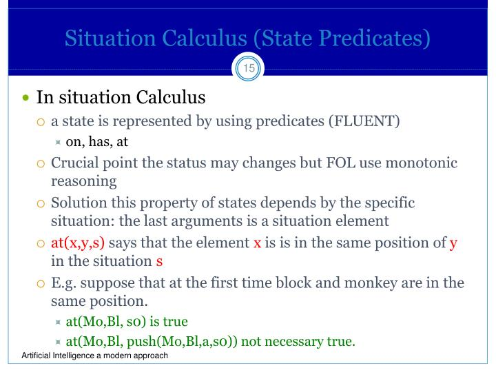 Situation Calculus (State Predicates)