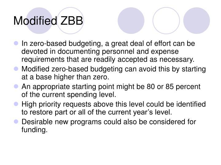 Modified ZBB