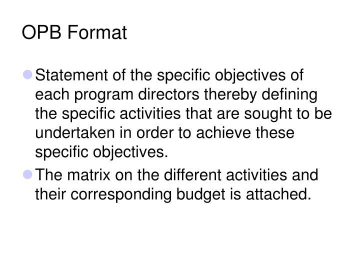 OPB Format