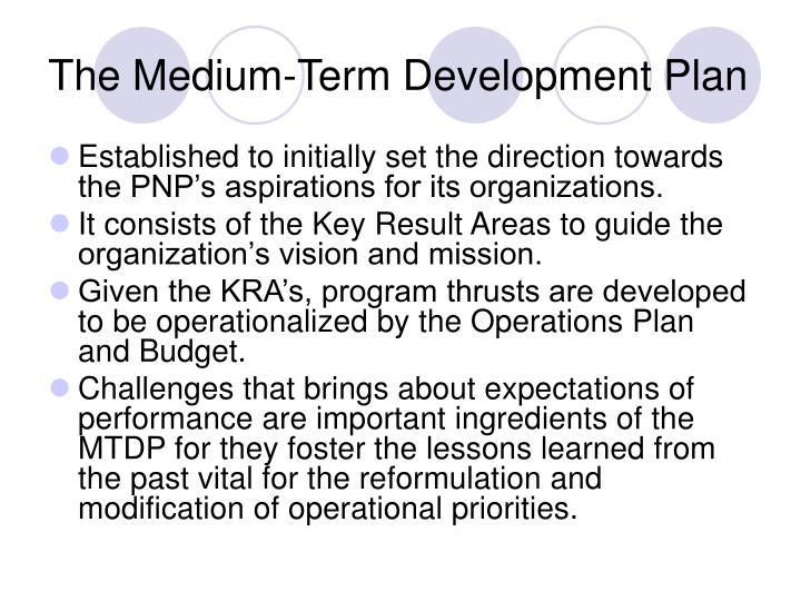 The Medium-Term Development Plan