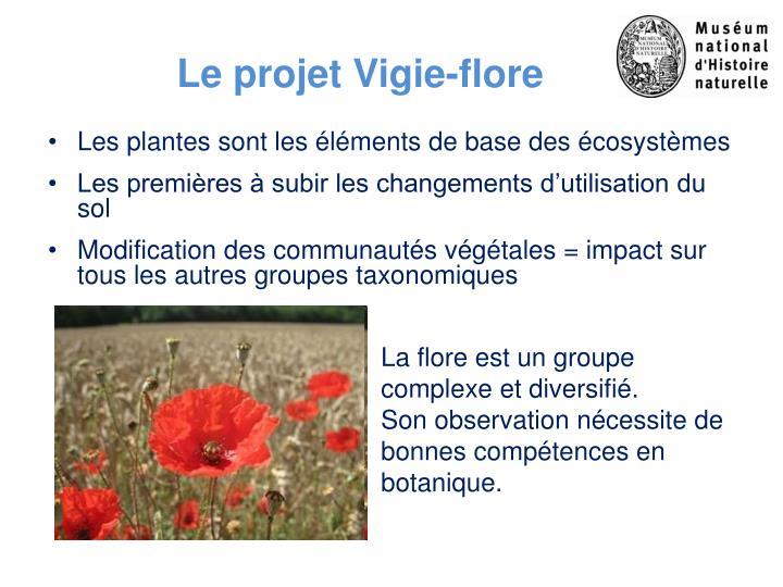 Le projet Vigie-flore