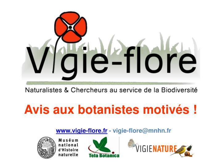Avis aux botanistes motivés !