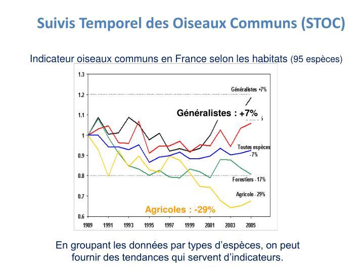 Suivis Temporel des Oiseaux Communs (STOC)
