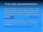 from this parametrisation