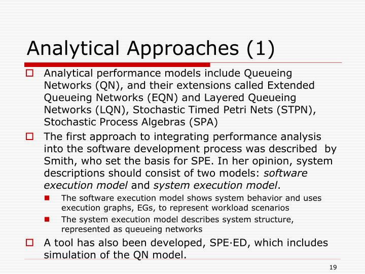Analytical Approaches (1)