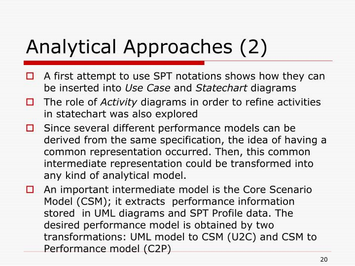 Analytical Approaches (2)