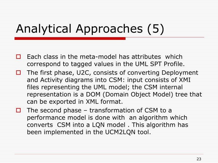 Analytical Approaches (5)