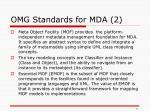 omg standards for mda 2