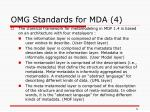 omg standards for mda 4