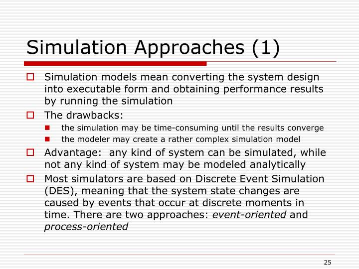 Simulation Approaches (1)