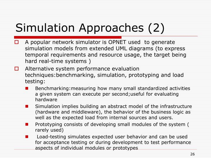 Simulation Approaches (2)