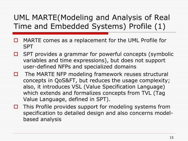 UML MARTE(Modeling and Analysis of Real Time and Embedded Systems) Profile (1)