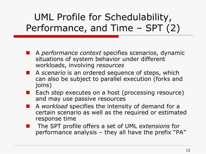UML Profile for Schedulability, Performance, and Time – SPT (2)
